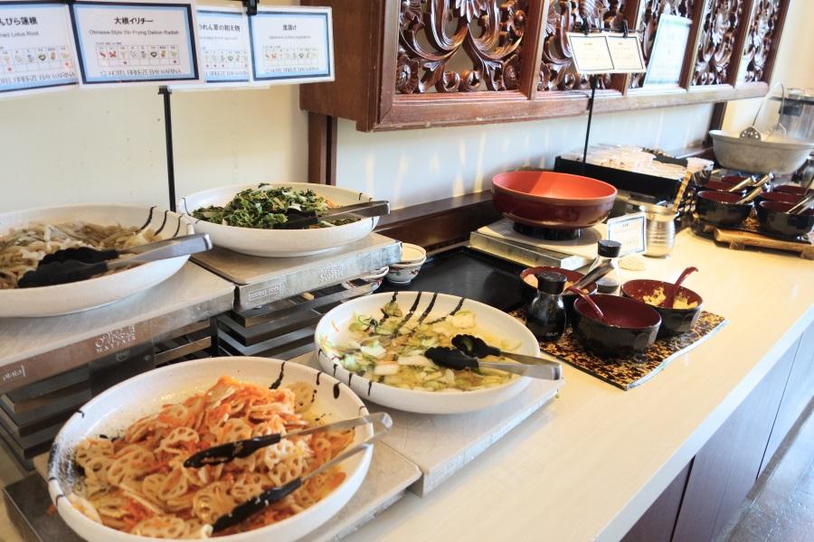 ホテルブリーズベイマリーナの朝食ビュッフェの和食コーナー