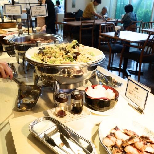 ホテルブリーズベイマリーナの朝食ビュッフェのメインコーナー