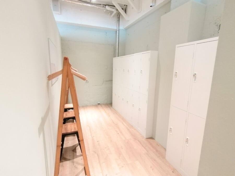 BDCピラティス銀座店の更衣室