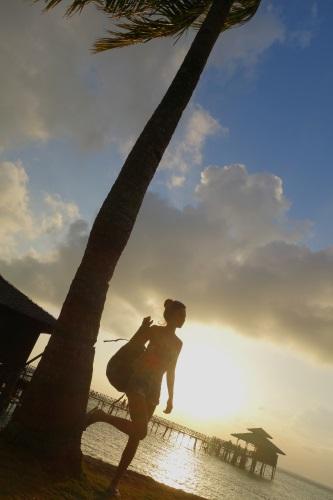 ビンタン島の夕日