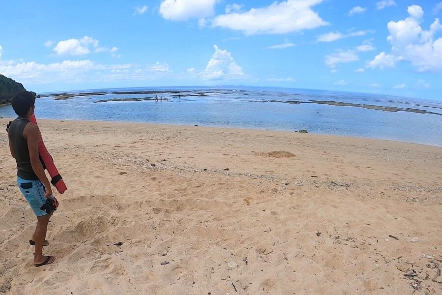 沖縄県北部・本部町のマリンショップCosmicOcean(コズミックオーシャン)に連れてきてもらった海