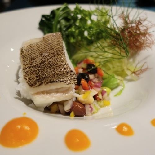 レストラン凪の魚のソテー