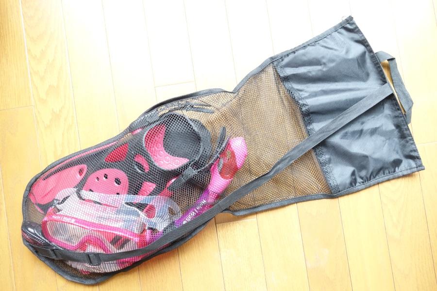 HeleiWaho(ヘレイワホ)のシュノーケルセットについてくるメッシュバッグ