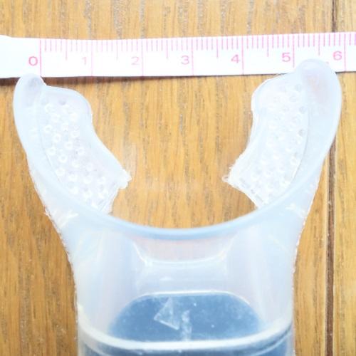 HeleiWaho(ヘレイワホ)のシュノーケルのマウスピースの大きさ