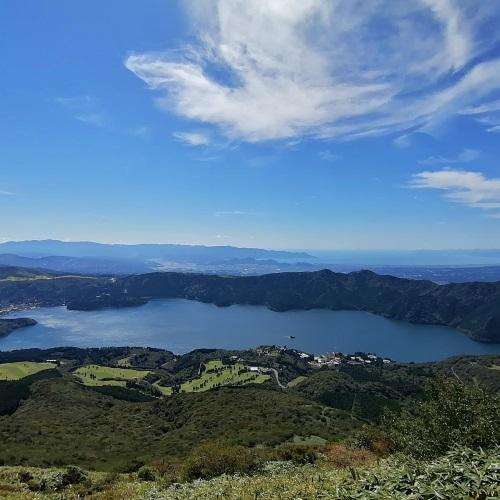 駒ヶ岳山頂から芦ノ湖の眺め