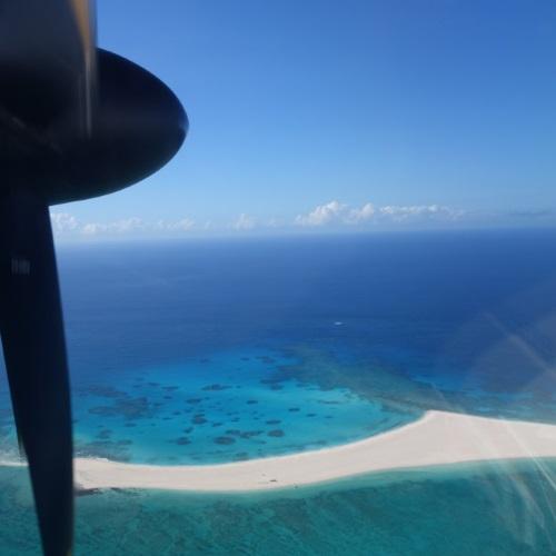 飛行機からのはての浜