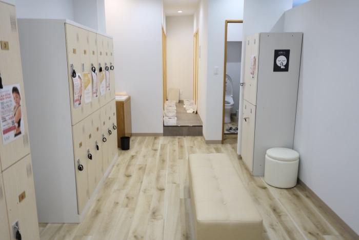 ララエステのロッカールームとシャワールーム
