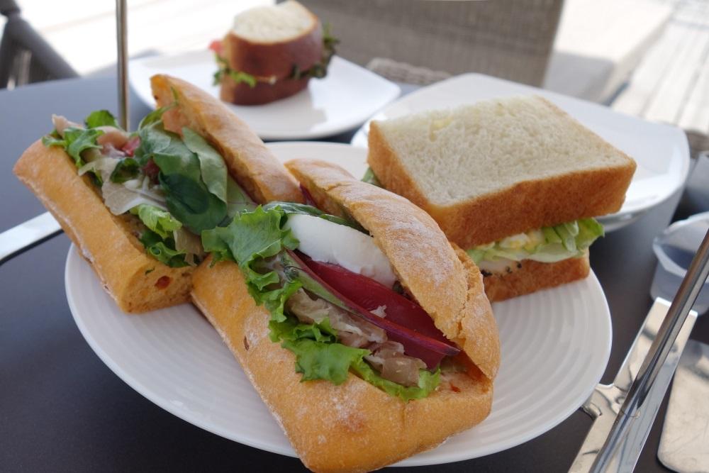 ル・ミリュウのサンドイッチ