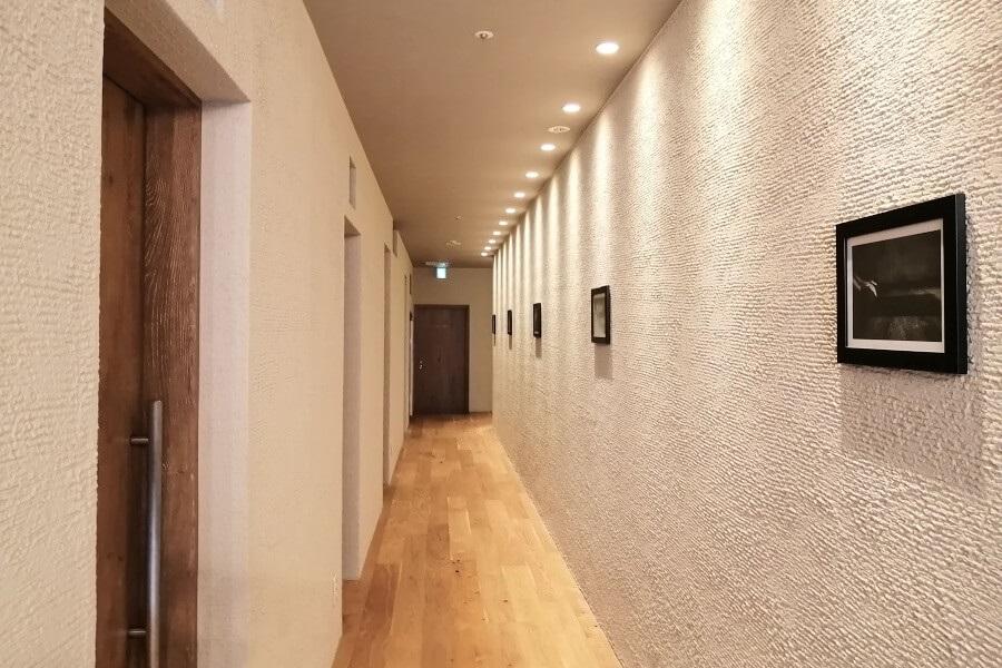 ロイブ銀座店の廊下の雰囲気