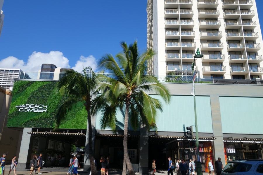 マウイブリューイングカンパニーがあるワイキキビーチコマーホテルの外観