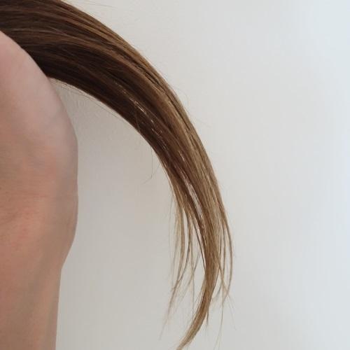 メルヴィータのオイルを使った後の髪