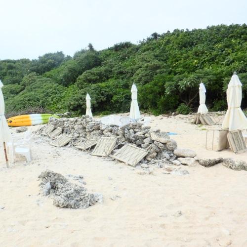 中の島ビーチの砂浜の様子(右側)