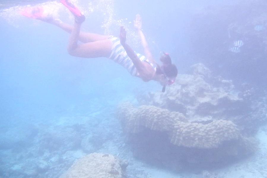 中の島ビーチの水深