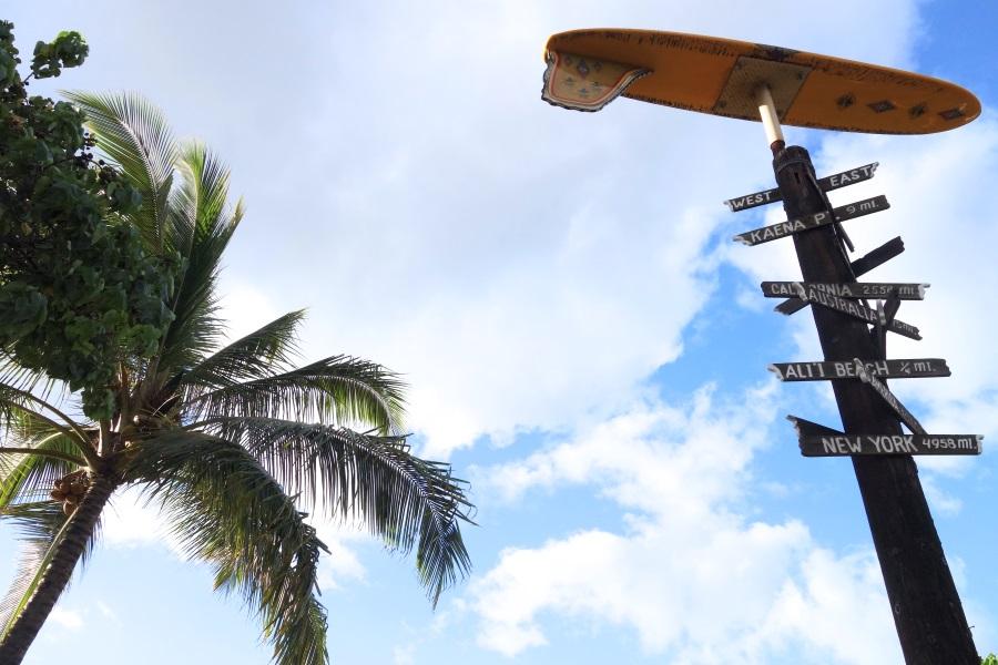 オアフ島の観光スポット「ハレイワタウン」