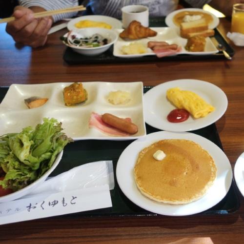 ホテルおくゆもとの朝食