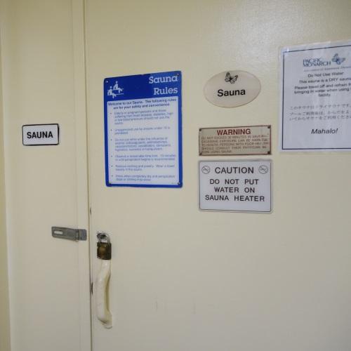 サウナの入り口