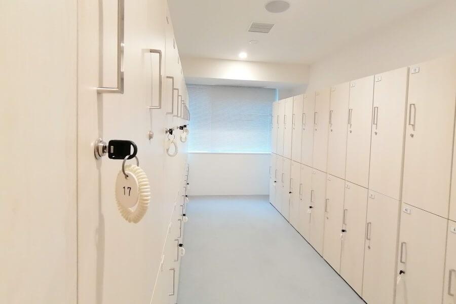 ピラティスKの更衣室