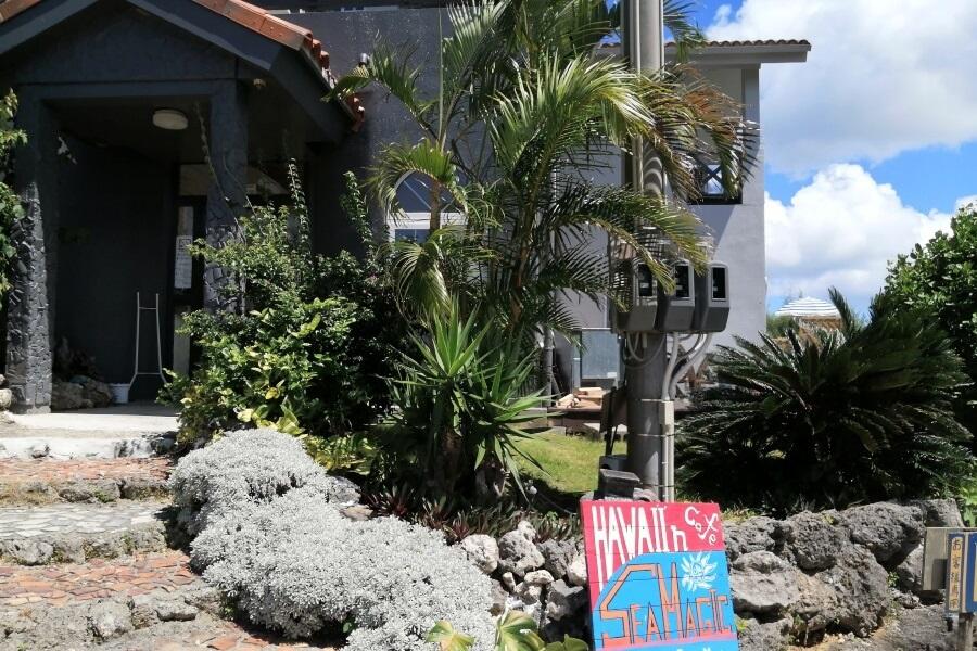 沖縄本部町のカフェレストラン「シーマジック」の外観