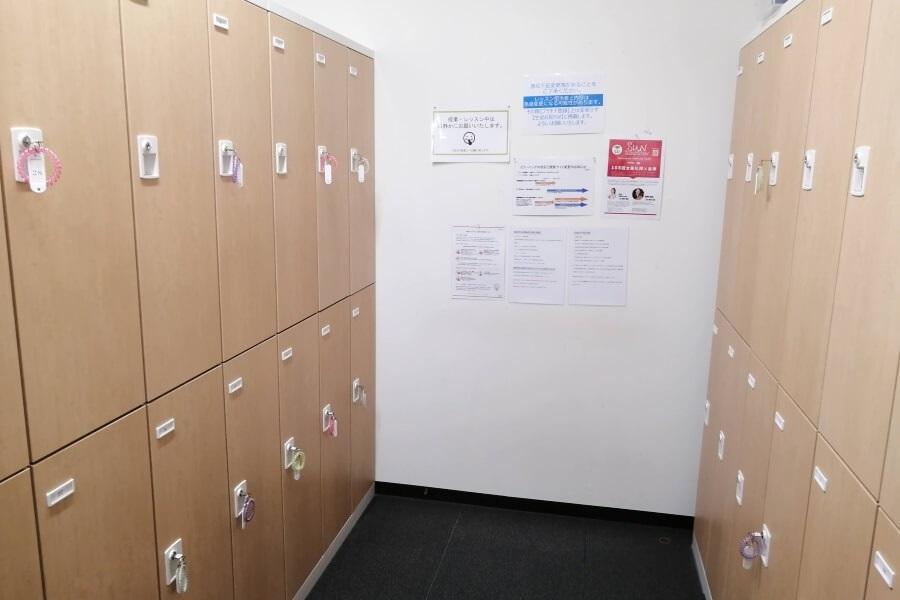 YMCヨガインストラクター養成スクールの更衣室