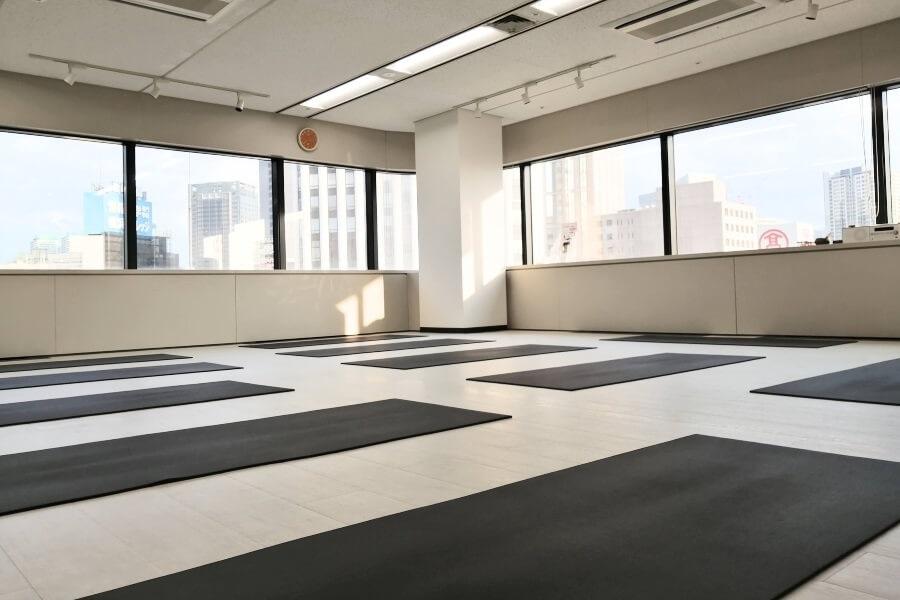 YMCヨガインストラクター養成スクールのスタジオ