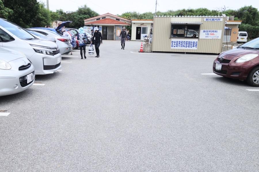 吉野海岸の駐車場