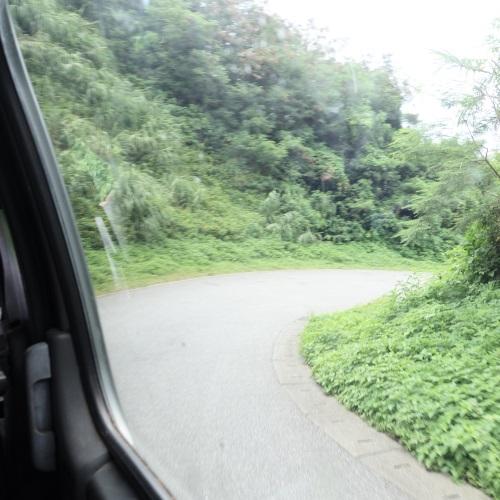 吉野海岸の送迎バスからの眺め